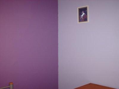 Chambre mauve petite jenni for Chambre couleur violet
