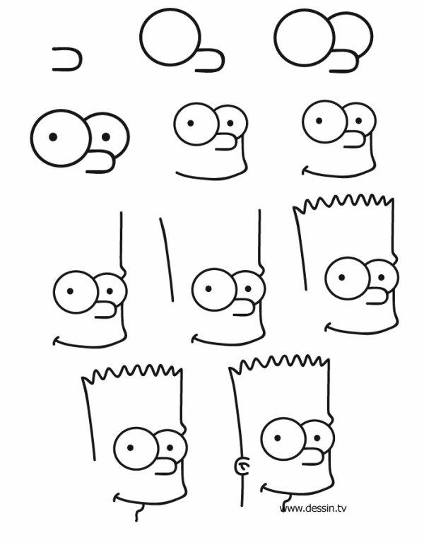 comment dessiner bart
